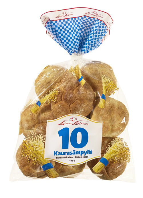10 Kaurasämpylä 10 kpl/ pss